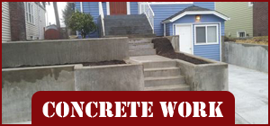 House with a Concrete Stairway - Concrete Contractor